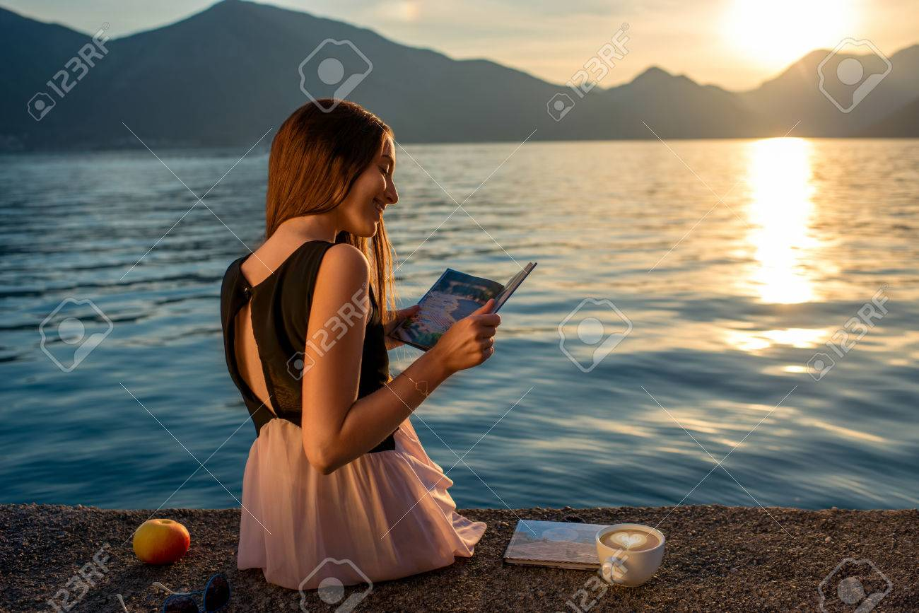 Image result for woman reading on a mountain