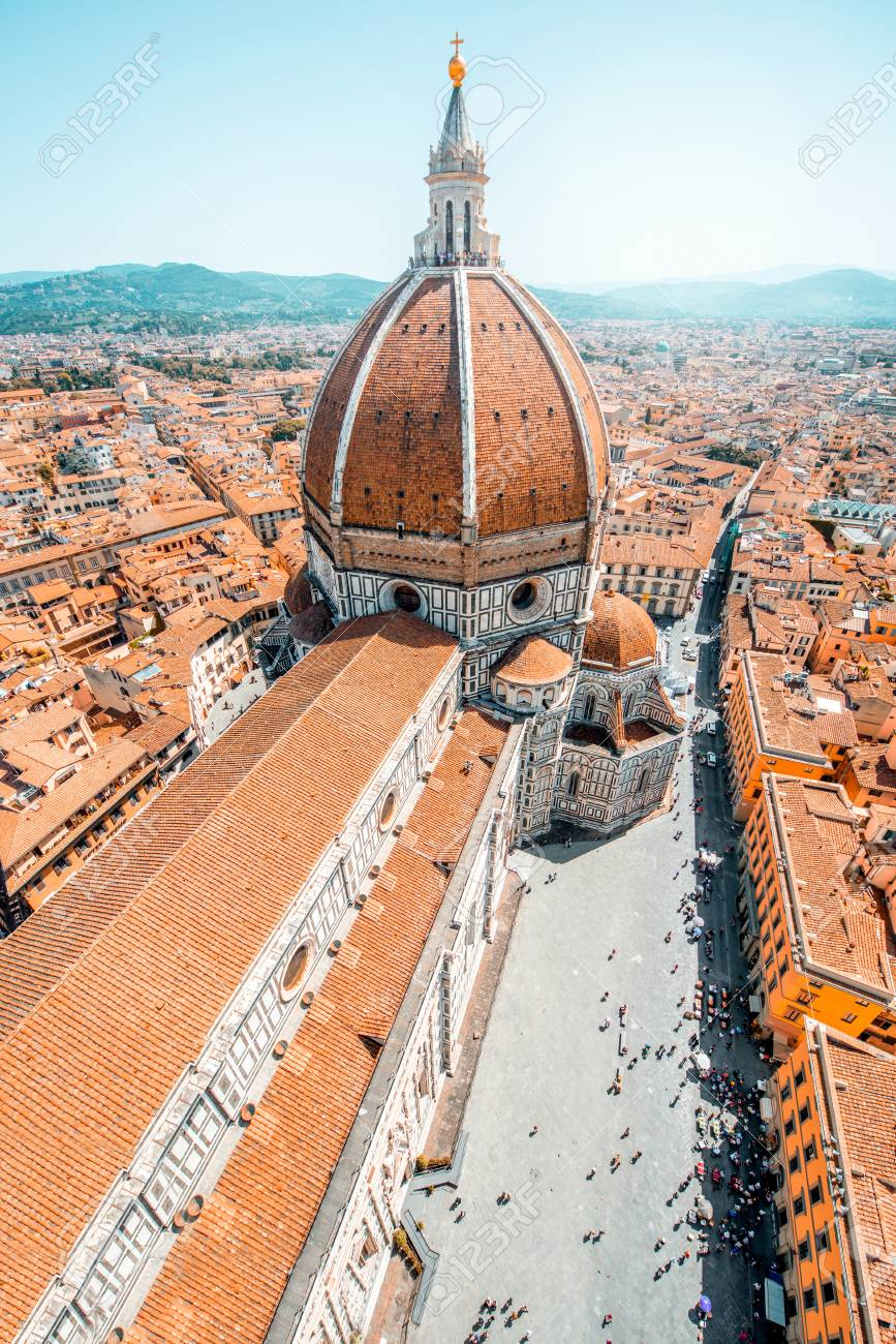 Top Cityscape View On The Dome Of Santa Maria Del Fiore Church Stock Photo Picture And Royalty Free Image Image 61967246
