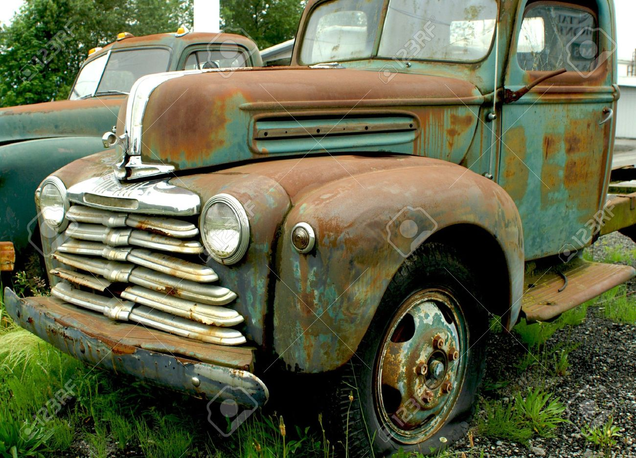 OLD RUSTED MERCURY TRUCK Stock Photo, Picture And Royalty Free Image ...