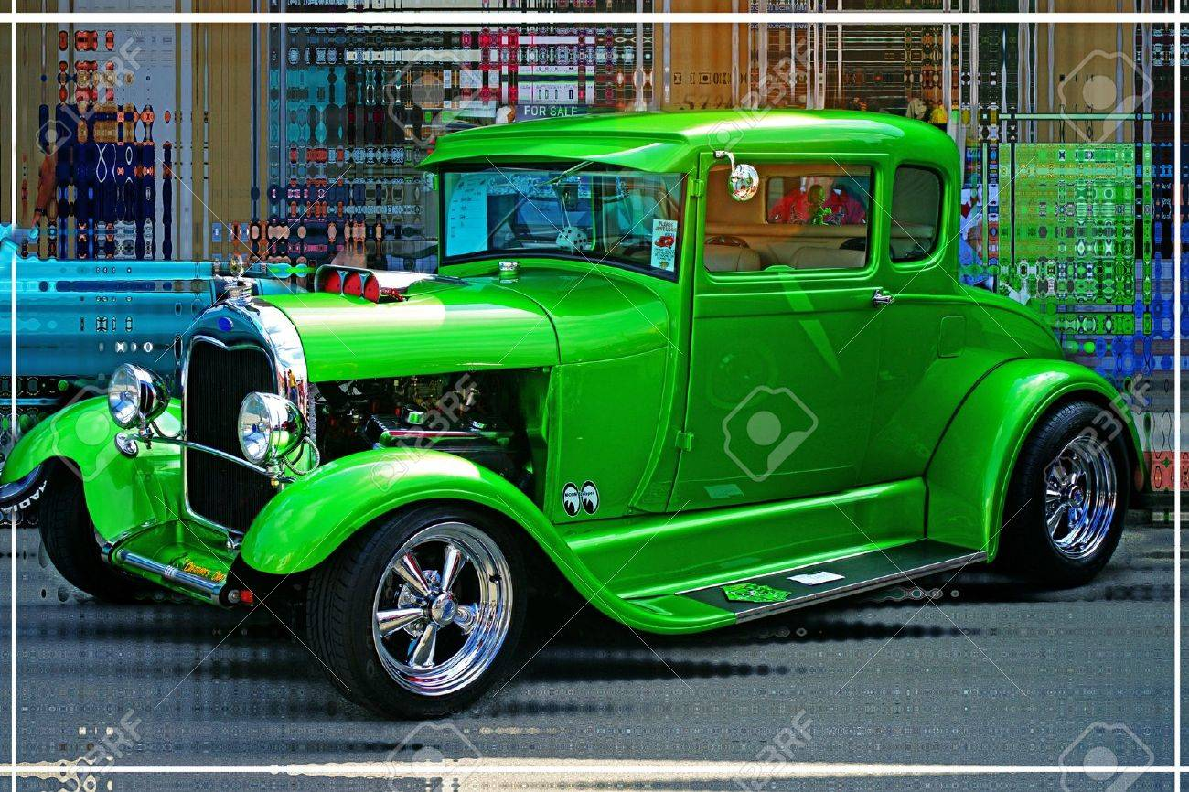 GREEN STREET ROD Stock Photo, Picture And Royalty Free Image. Image ...