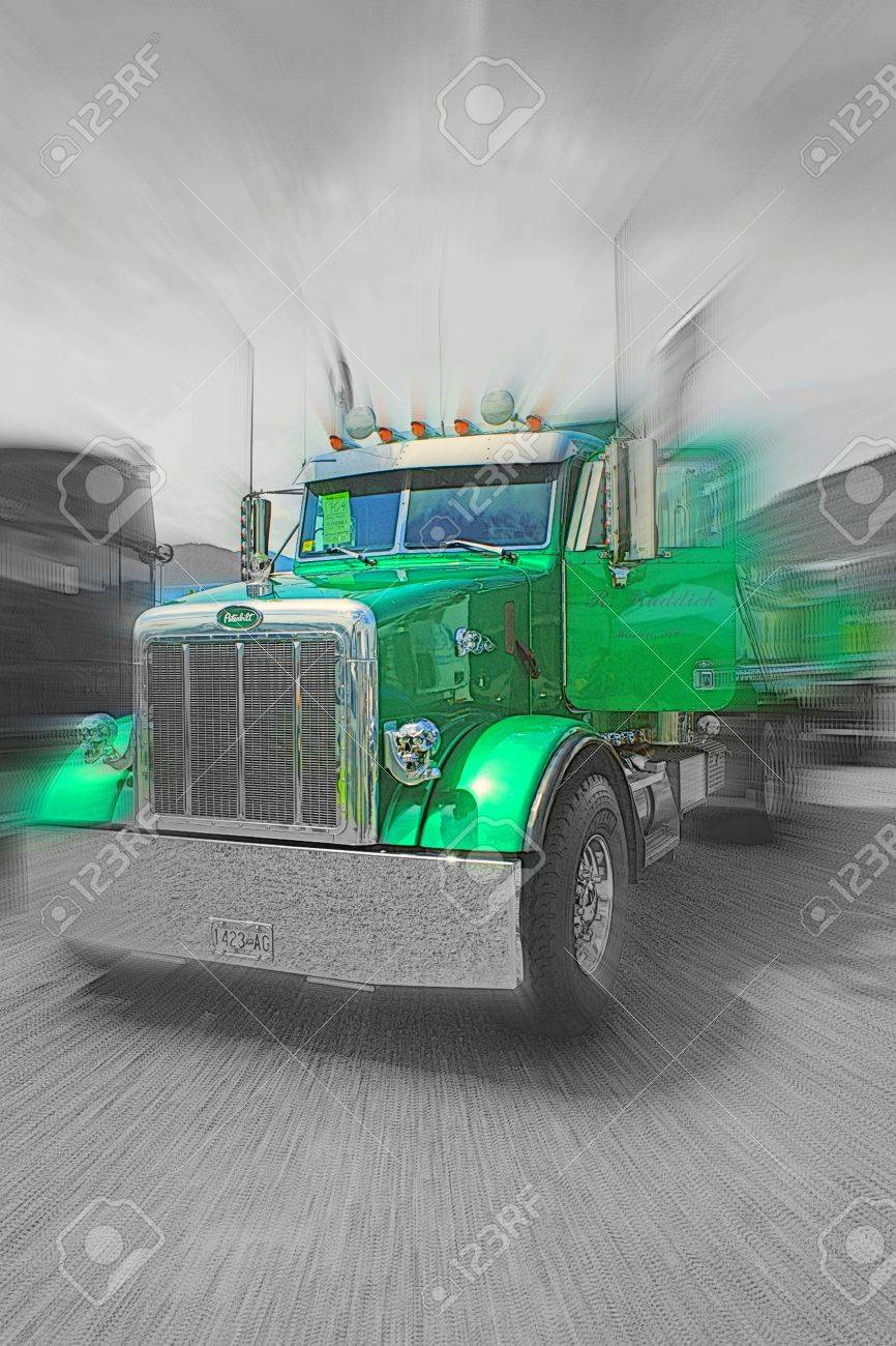 Green Peterbilt Dump Truck Stock Photo Picture And Royalty Free Image Image 11044948