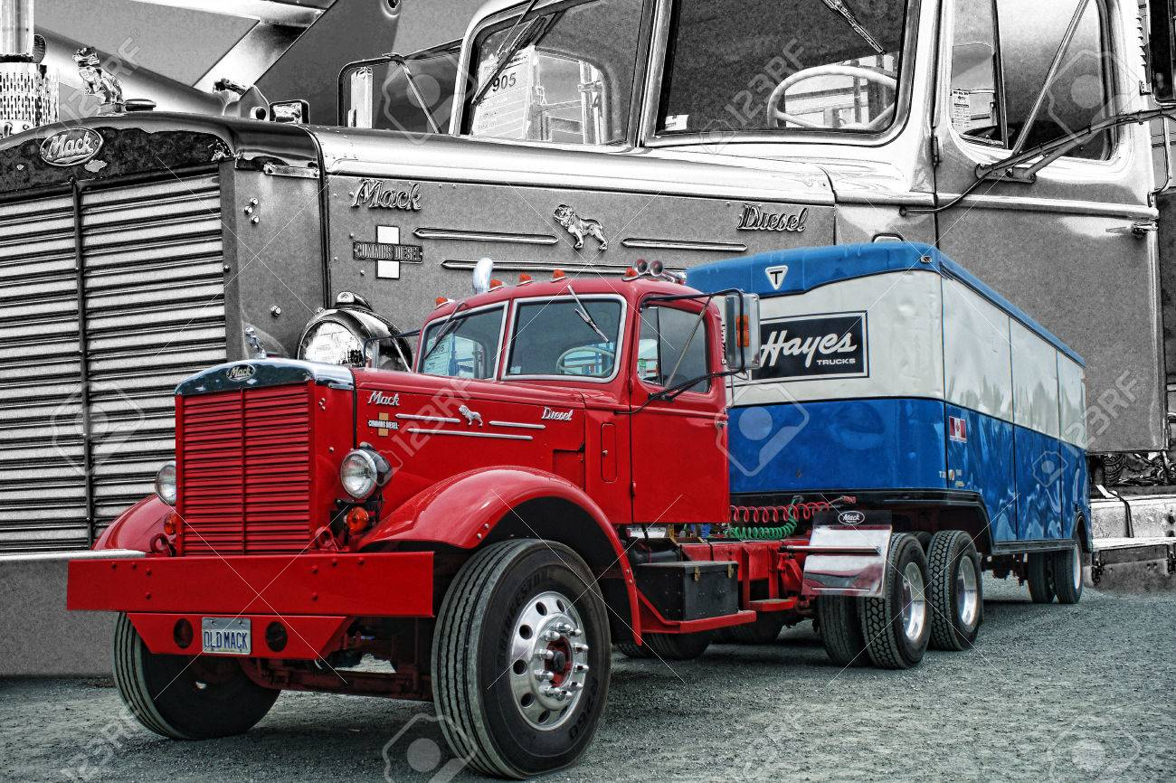 old mack truck stock photo picture and royalty free image image