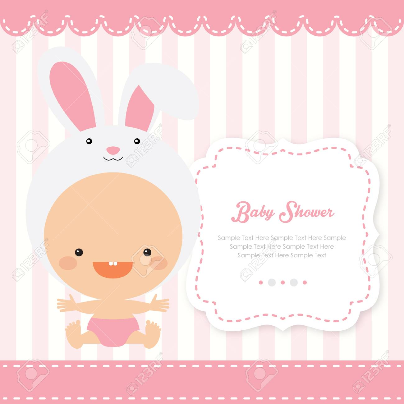 Bunny Baby Shower Royalty Free Cliparts Vectors And Stock