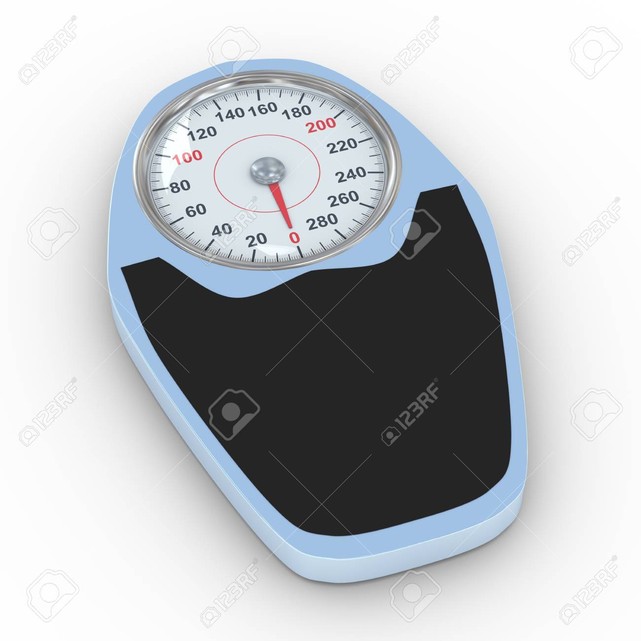 3d illustration of bathroom weight scale on white background  Concept of dieting, exercise and weight loss Stock Illustration - 20946856