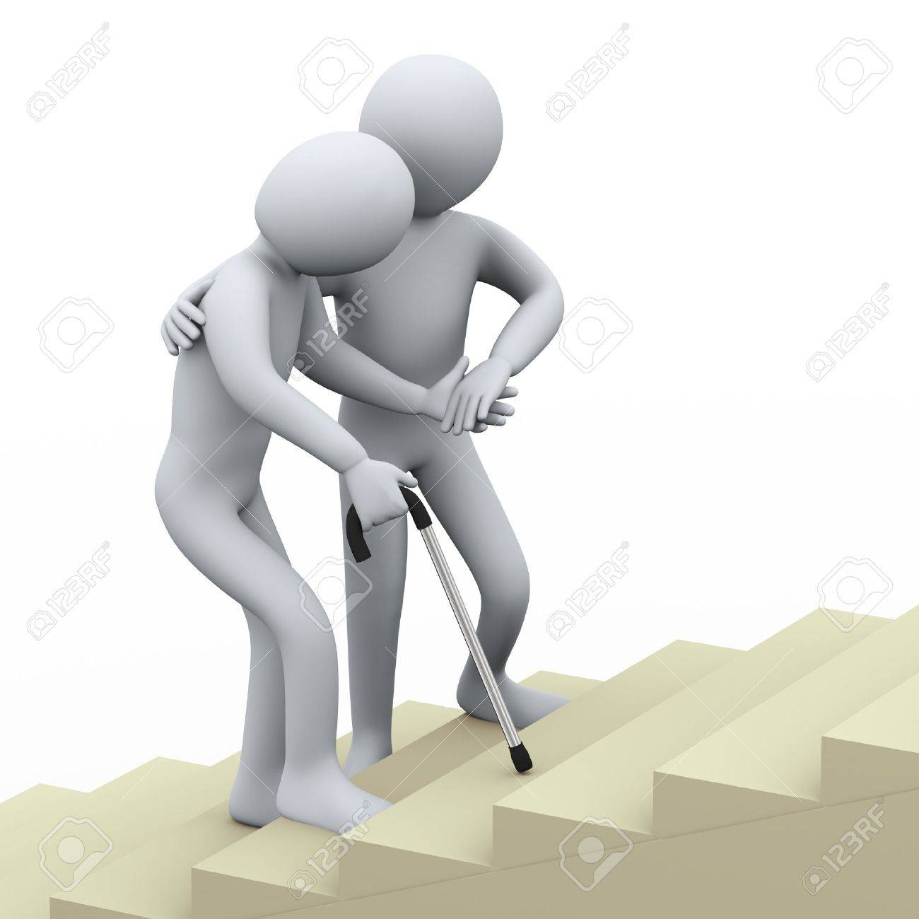 weakness images stock pictures royalty weakness photos and weakness 3d illustration of old man being helped by young person 3d rendering of people