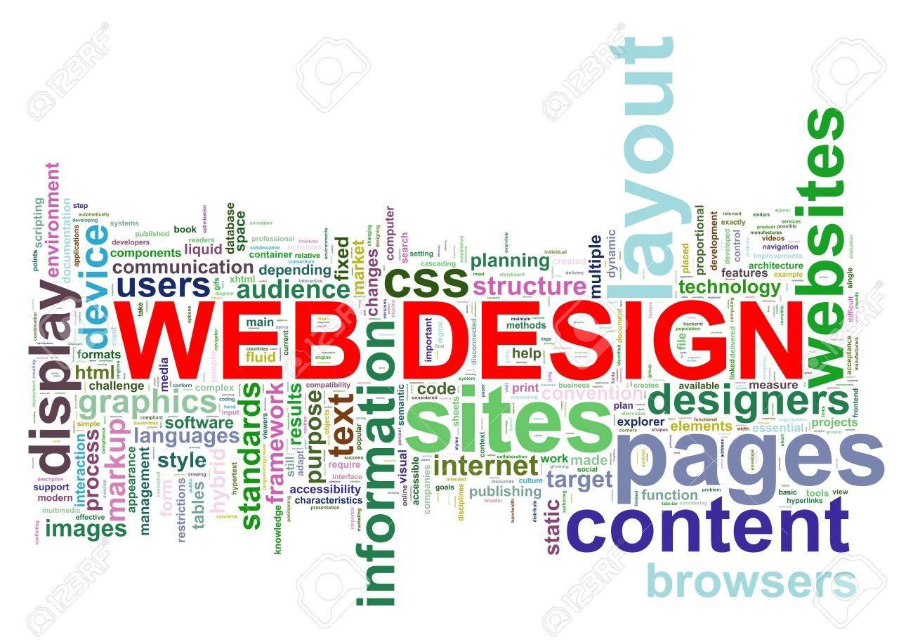 Web デザインのタグの Wordcloud のイラスト の写真素材画像素材 Image
