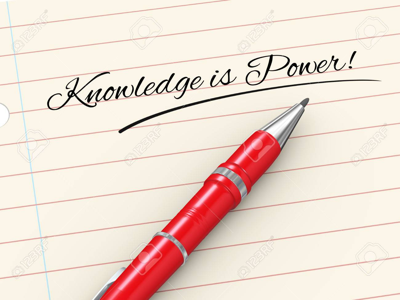 d render of pen on paper written knowledge is power stock photo 3d render of pen on paper written knowledge is power stock photo 23711521