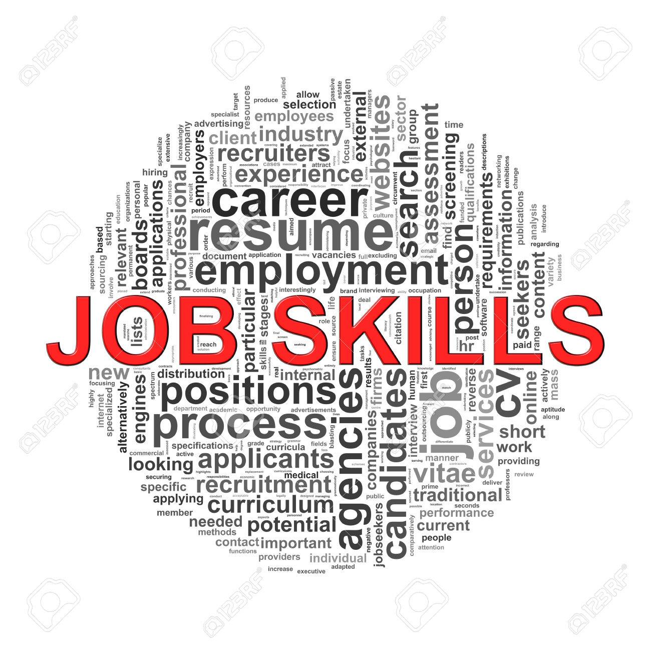 illustration of circular design wordcloud word tags of job skills illustration illustration of circular design wordcloud word tags of job skills