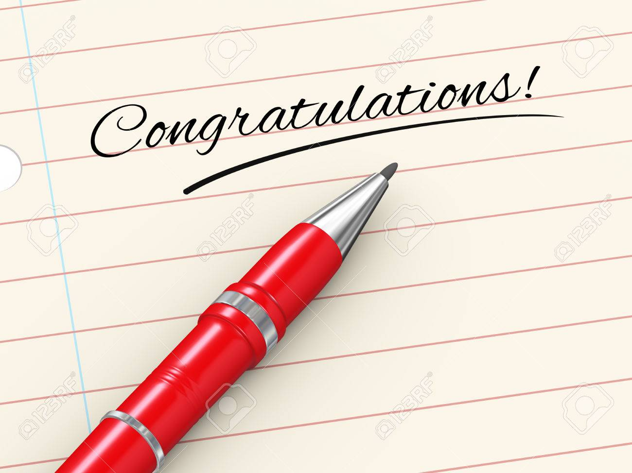 d render of pen on paper written congratulations stock photo 3d render of pen on paper written congratulations stock photo 29232223