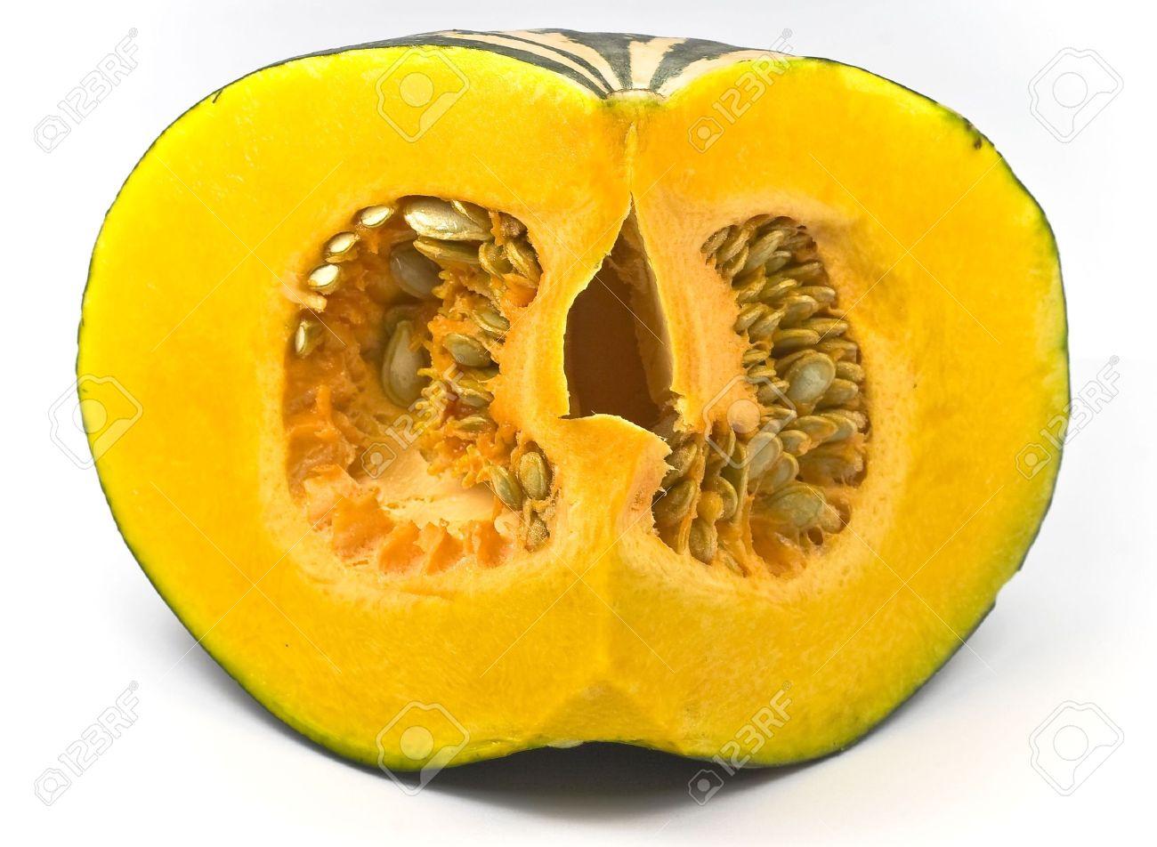 Pumpkin flesh and seeds Stock Photo - 6629705
