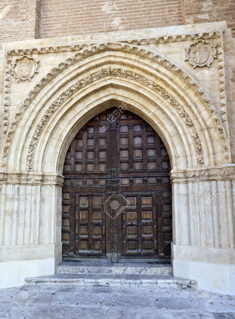 Doors of the Royal Gothic Convent in Tordesilhas Spain Stock Photo - 13552371 & Doors Of The Royal Gothic Convent In Tordesilhas Spain Stock Photo ...