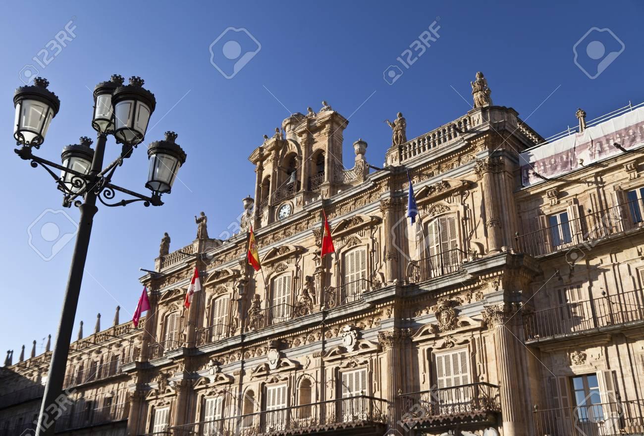 Salamanca Plaza Mayor - Lamppost Stock Photo - 13744076