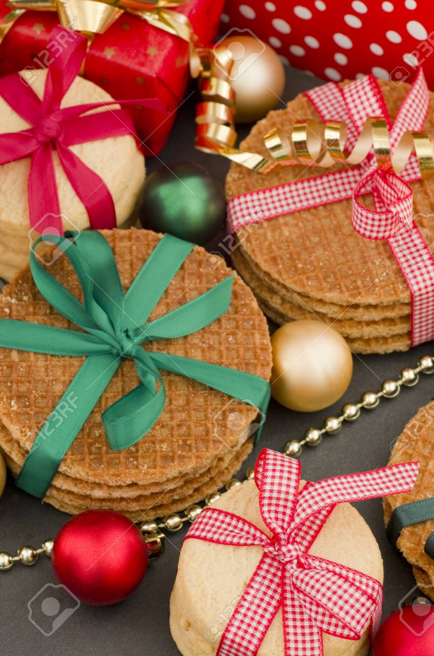 Christmas Gifts And Biscuit Cookies Stock Photo, Picture And Royalty ...