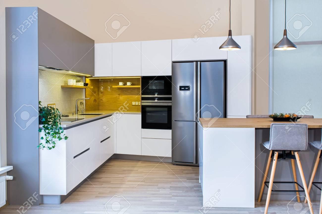 Interior Kitchen Design Photos Stunning Modern Home Interior Modern Kitchen Design In Light Interior 9132 3