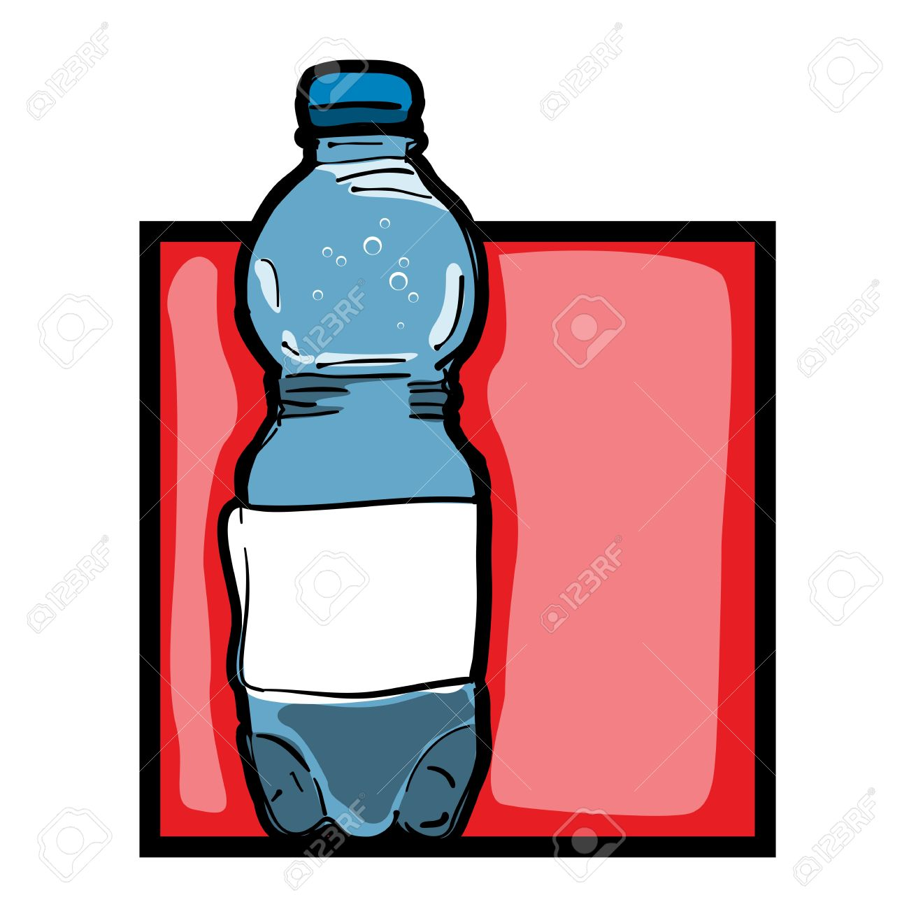 classic clip art graphic icon with mineral water bottle royalty free rh 123rf com Ensure Bottle Cold Bottle