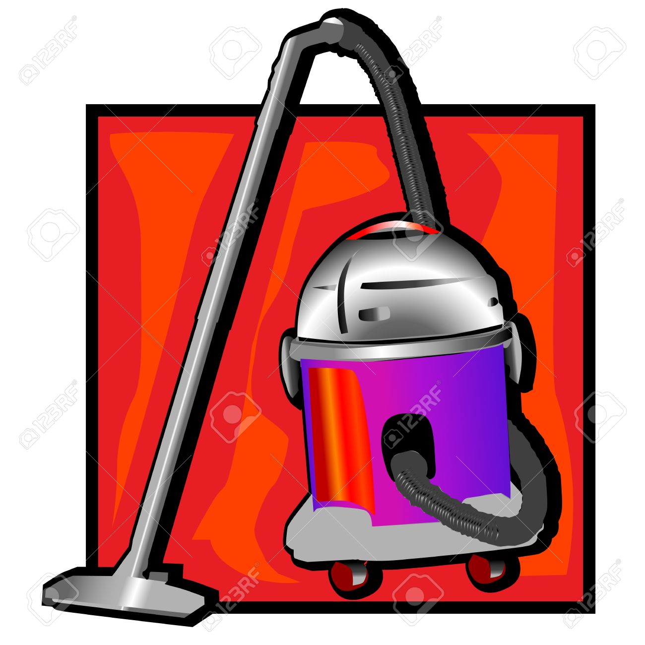 Vacuum cleaner clipart vacuum cleaner clip art - Retro Vacuum Cleaner Clip Art Stock Vector 11970058