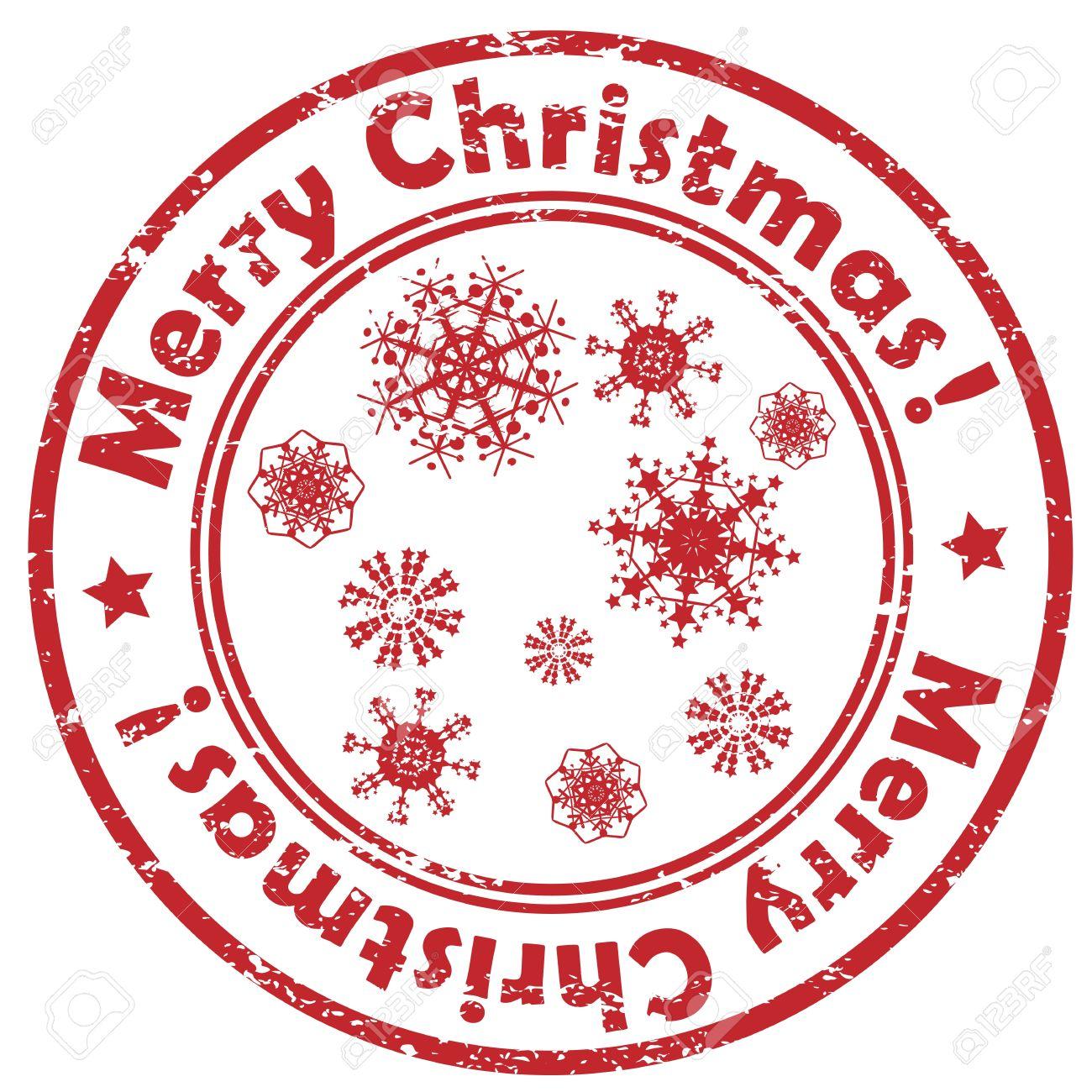 Geometrische Weihnachtsstempel Mit Schneeflocken Auf Weißem Isoliert ...