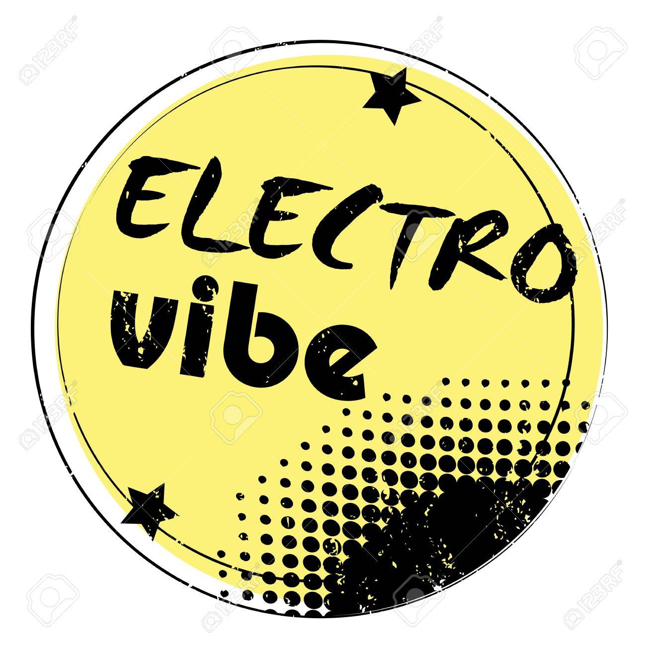 Retro Party Music Stamp For A Night Club Or Bar Electro Vibe