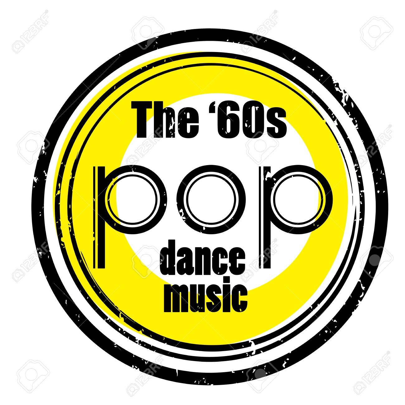 Retro Party Music Stamp For A Night Club Or Bar The Sixties