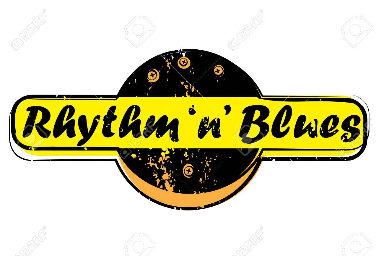 Retro Party Music Stamp For A Night Club Or Bar Rhythm And Blues Seal With