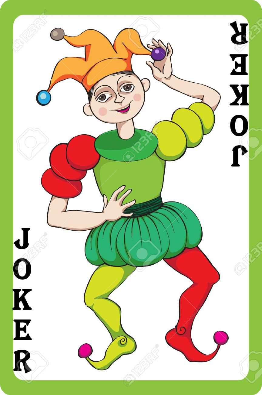 joker karte clipart Scale Hand Drawn Illustration Of A Playing Card Representing