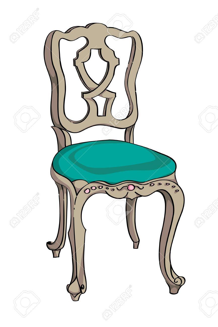 Как нарисовать дизайн стула