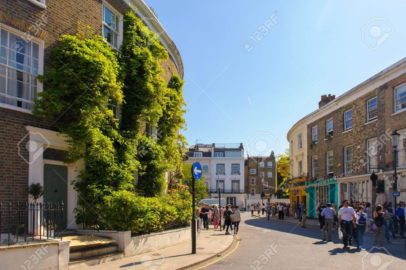 Street View Of Portobello Road Market In Notting Hill, London ...