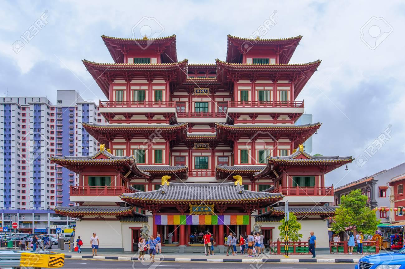 仏の歯の遺物の寺は唐王朝の建築...