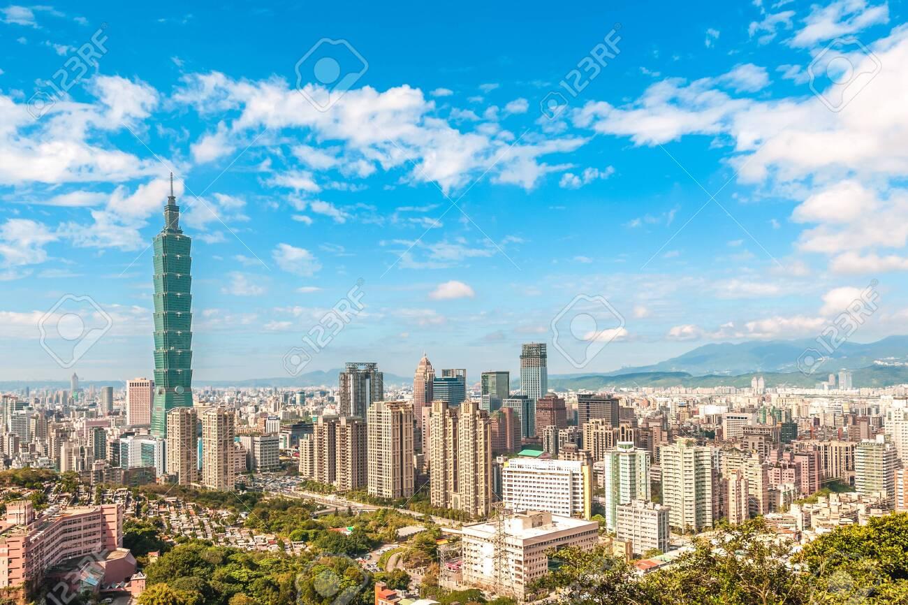 Panoramic view of Taipei City, taiwan - 129951725