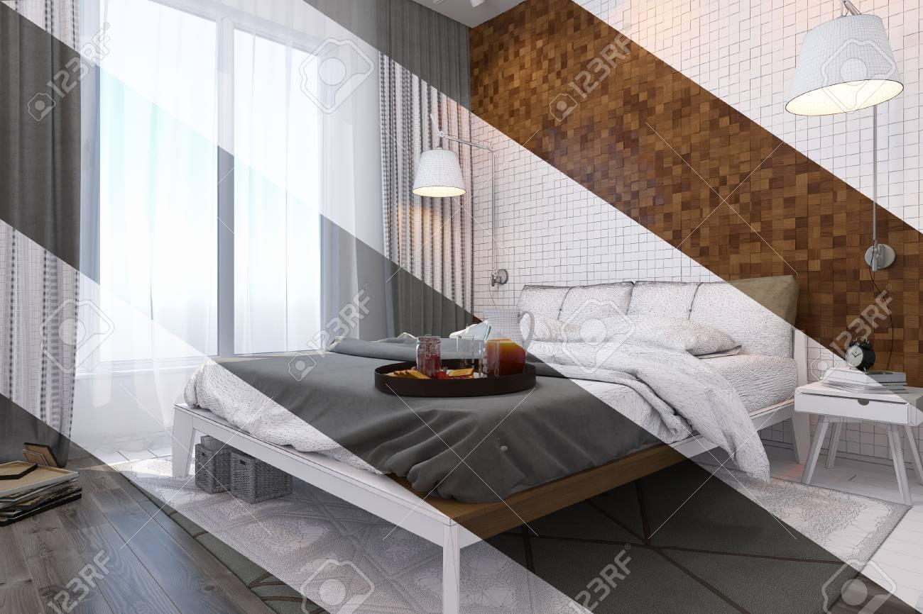 3d Illustration De Chambre Design D\'intérieur Dans Un Style ...
