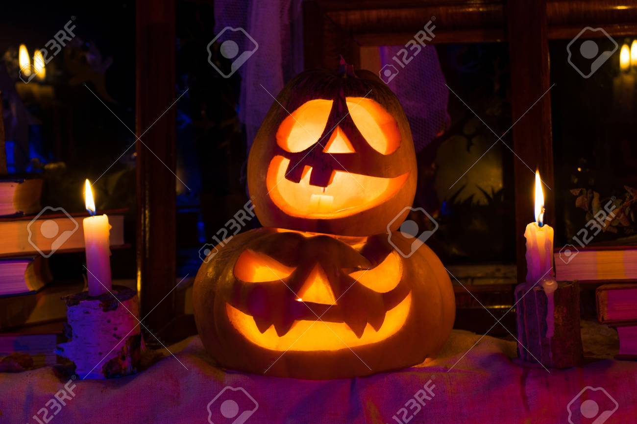 photo pumpkins for halloween all saints day halloween feast stock photo 66357442