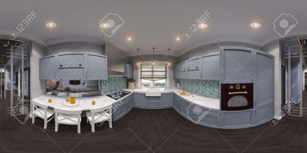3D-Darstellung Der Küche Innenarchitektur Lizenzfreie Fotos, Bilder ...