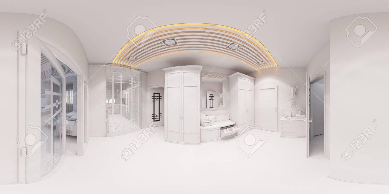Innenarchitektur Halle 3d darstellung halle innenarchitektur im klassischen stil render