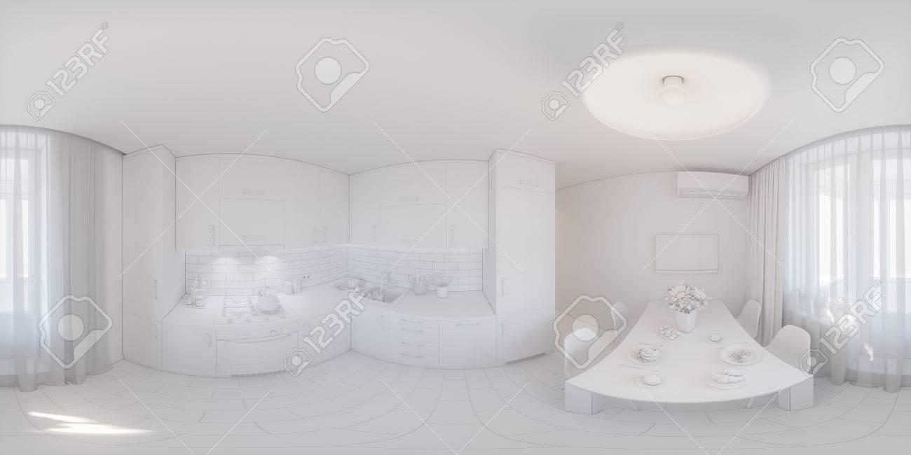 360 Panorama Der Kuchendesign Nahtlose 3d Darstellung Der