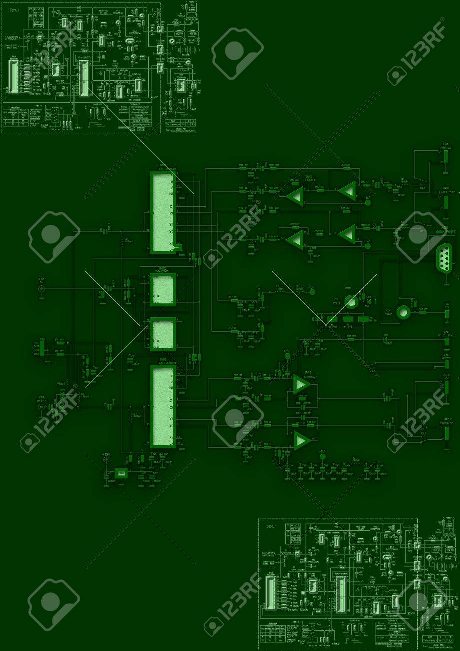 Blueprint Circuit Board Stock Photo, Picture And Royalty Free Image ...