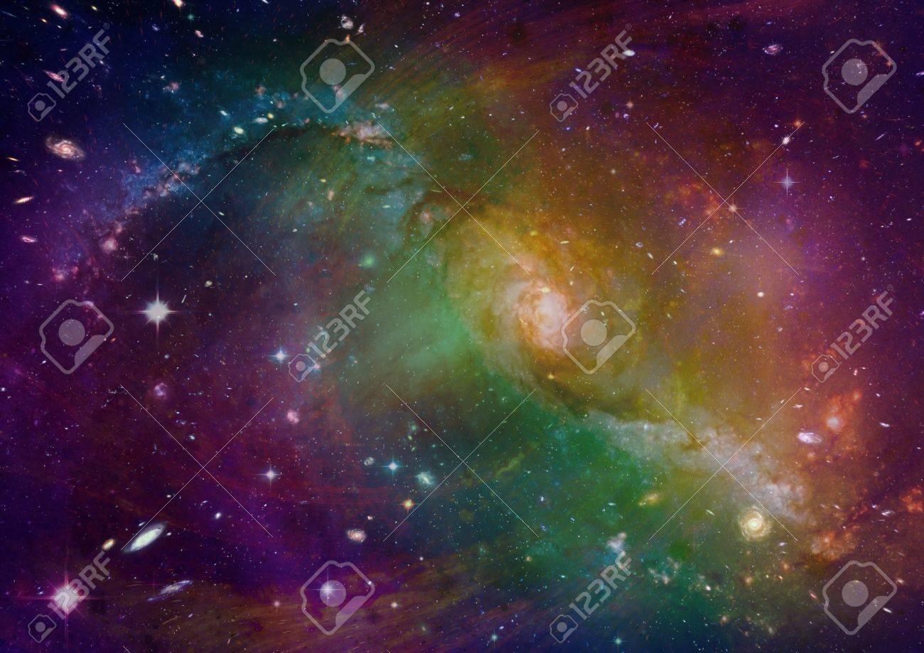 Space stars and nebula Stock Photo - 14099384