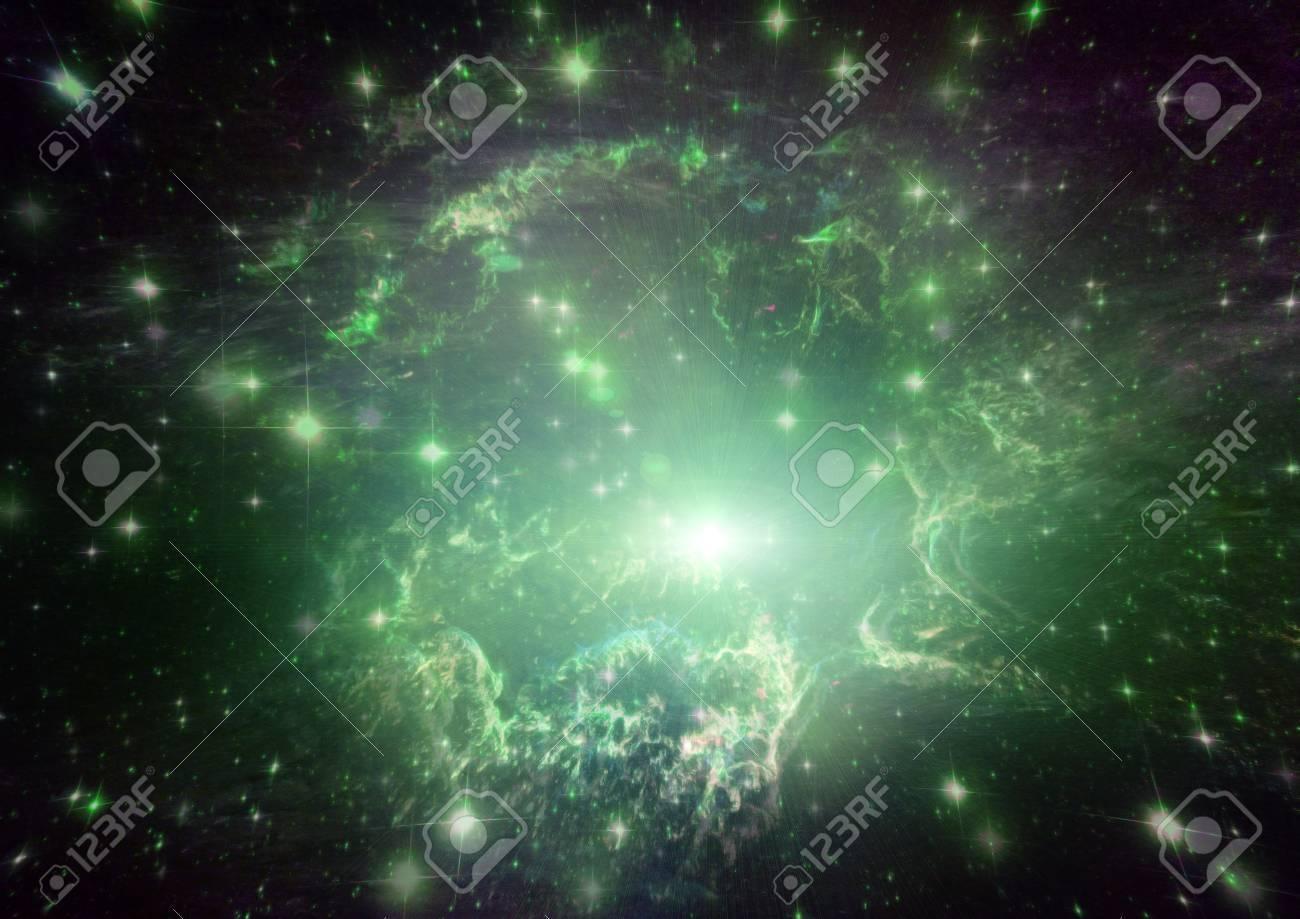 Space stars and nebula Stock Photo - 14465763