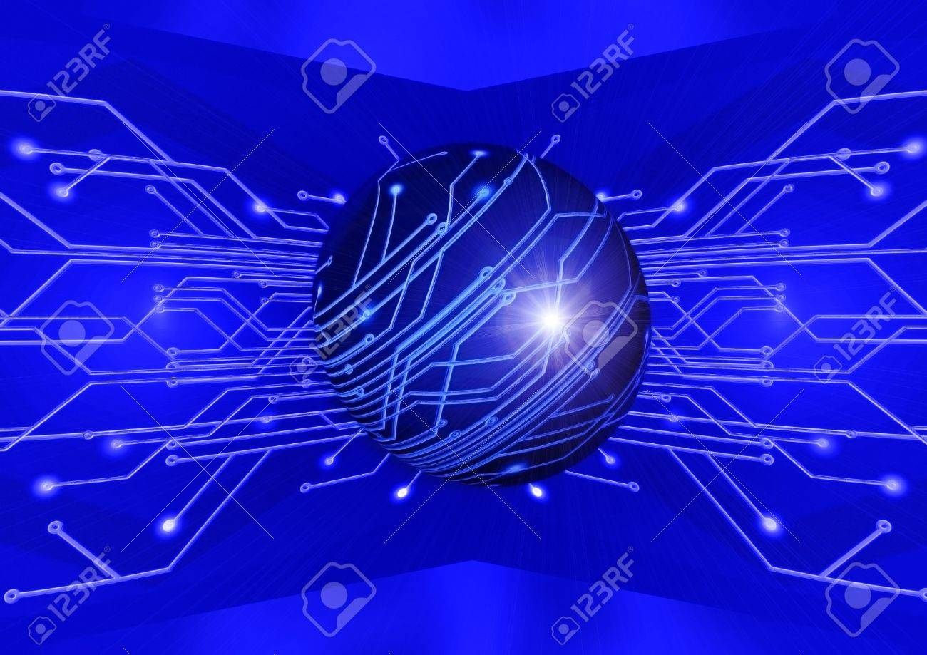 Electric Board For Installation Of The Electronic Scheme Stock Photo ...
