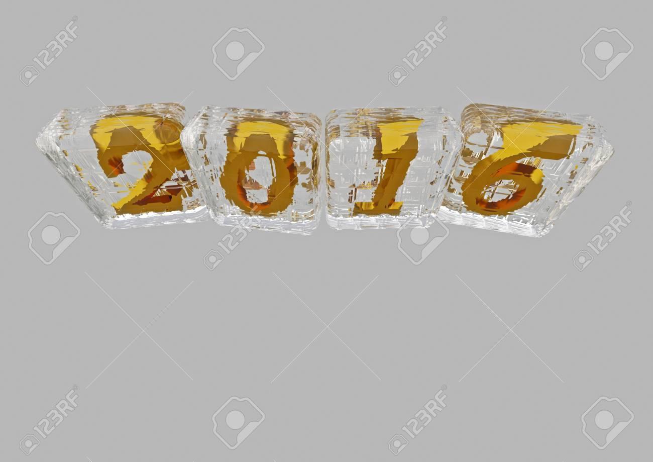 Three Dimensional Inscription 2016 Creative Greeting Card Design