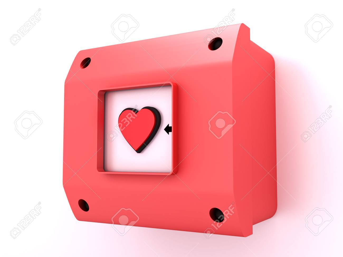 Alarm button figure of heart Stock Photo - 5533503