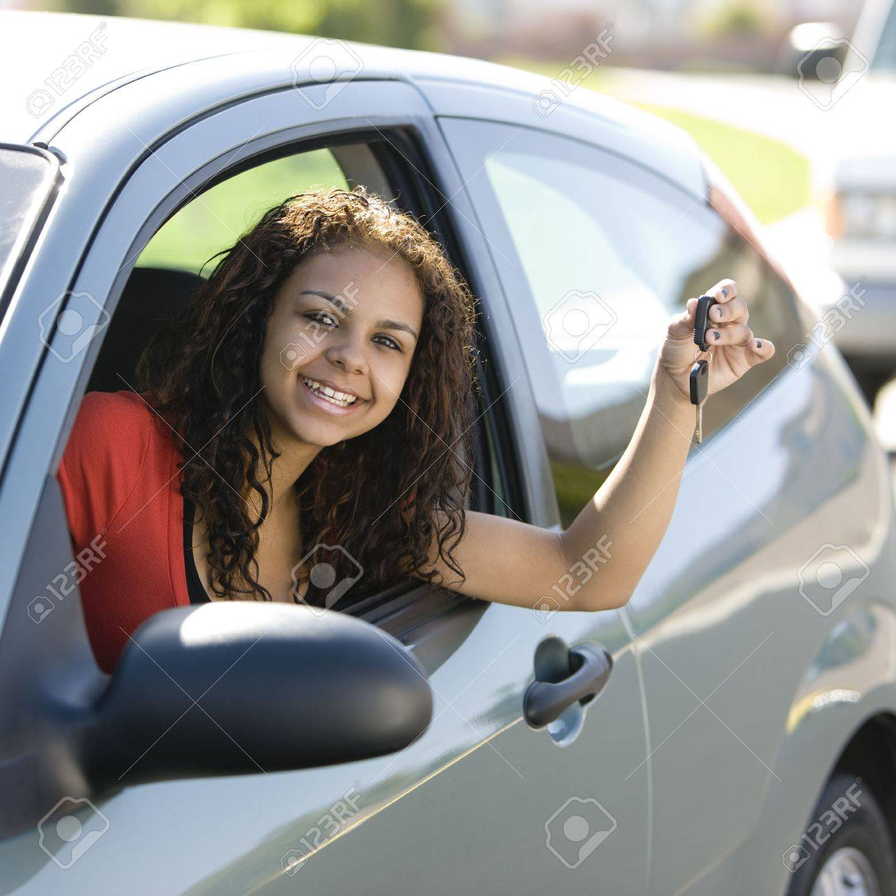 Inside With Smiles Car Teen Driver Keys
