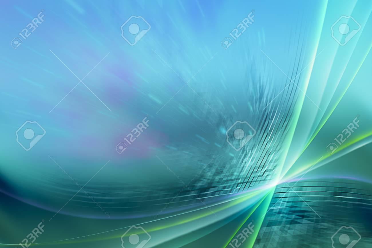 緑と青のオーロラ壁紙デザインを抽象化します の写真素材 画像素材 Image