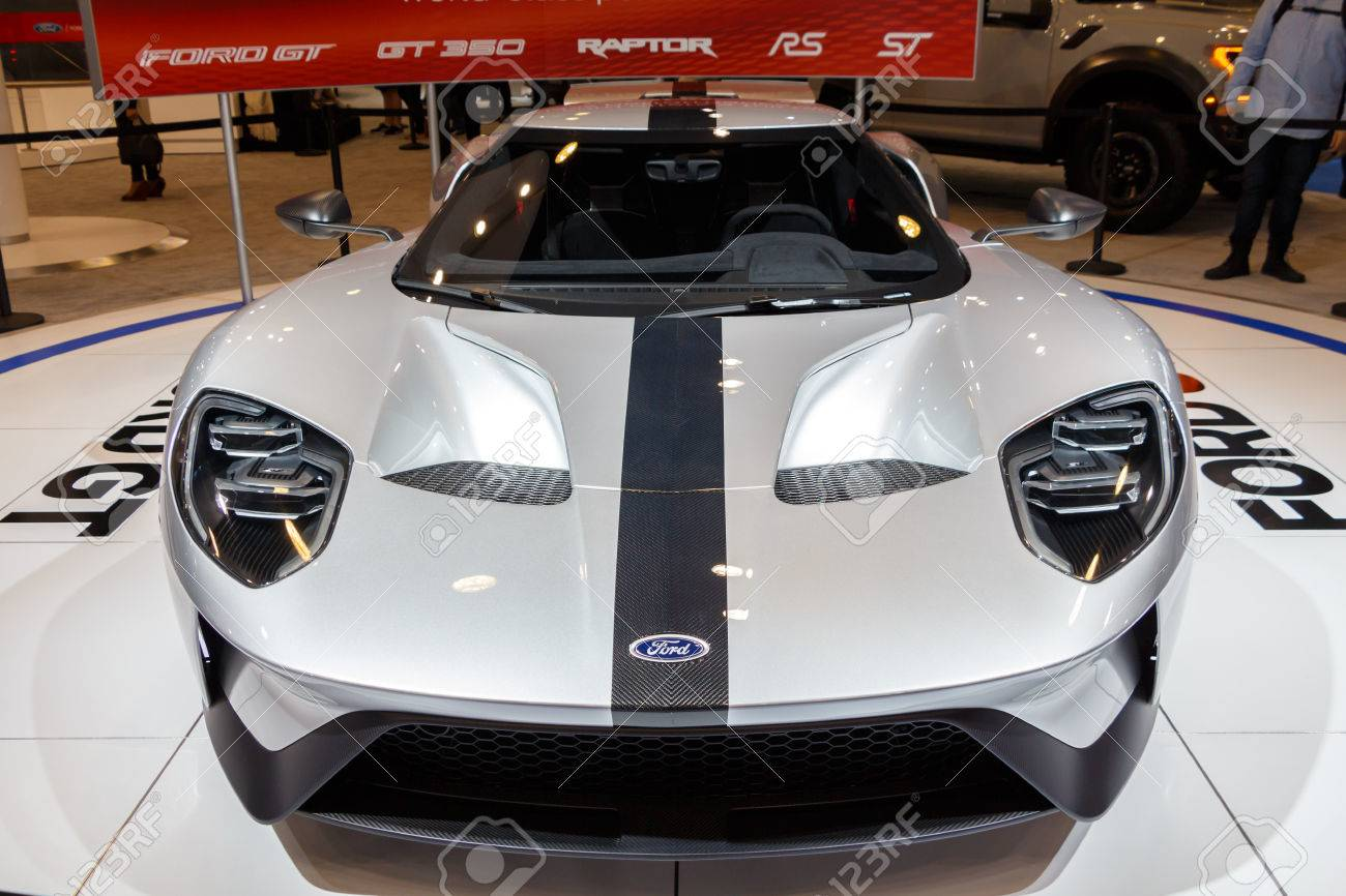 Vancouver Canada Circa  New Ford Gt Stock Photo