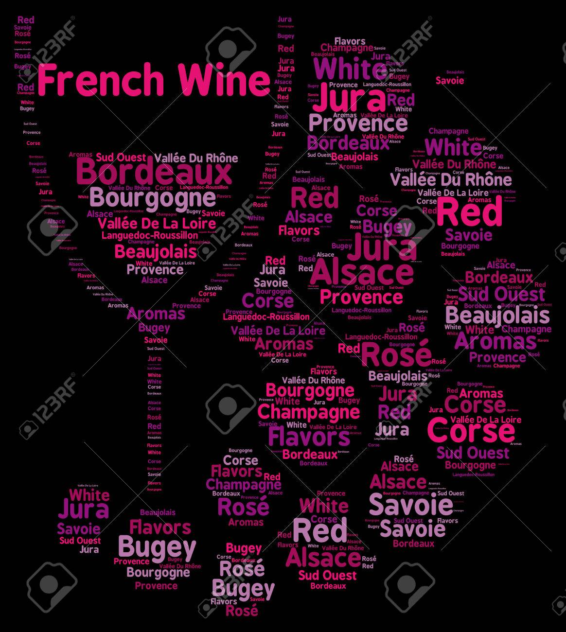 French wines word cloud concept - 51338200
