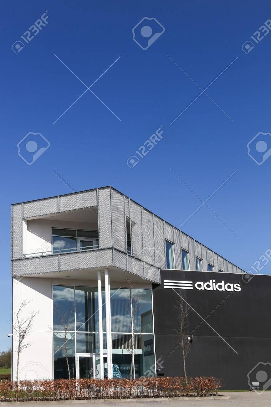 Aarhus, Denmark - May 1, 2016: Adidas office building  Adidas