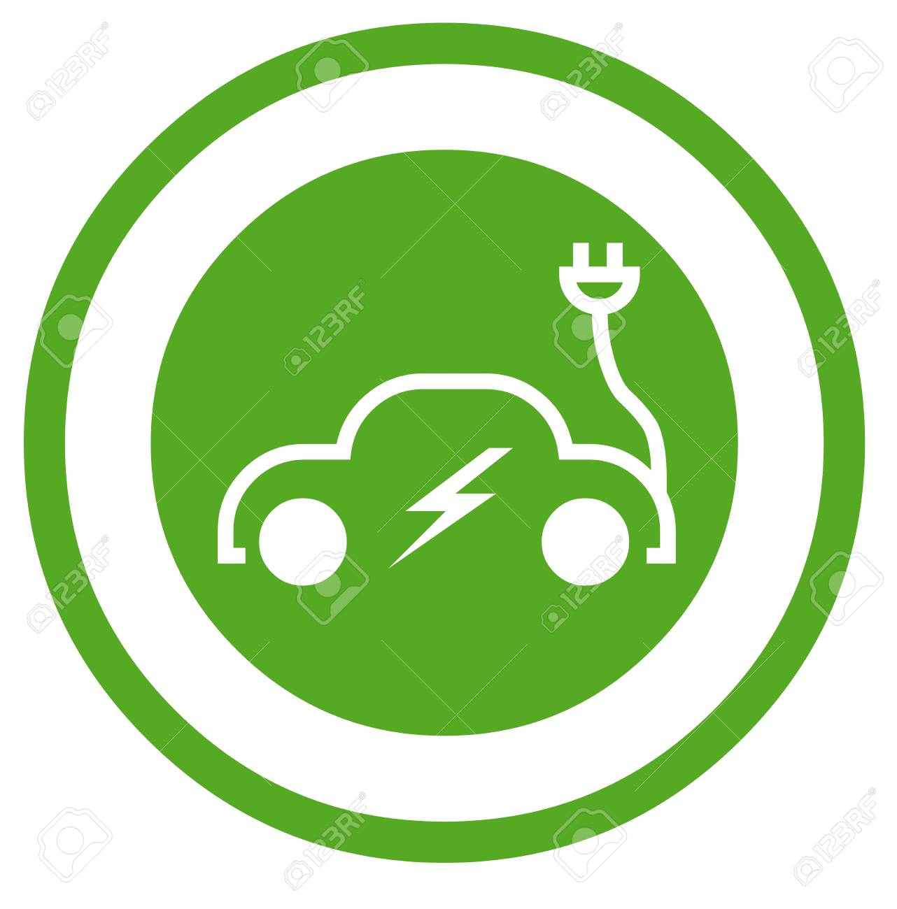 Electric Car Symbol Stock Photo, Picture And Royalty Free Image ...