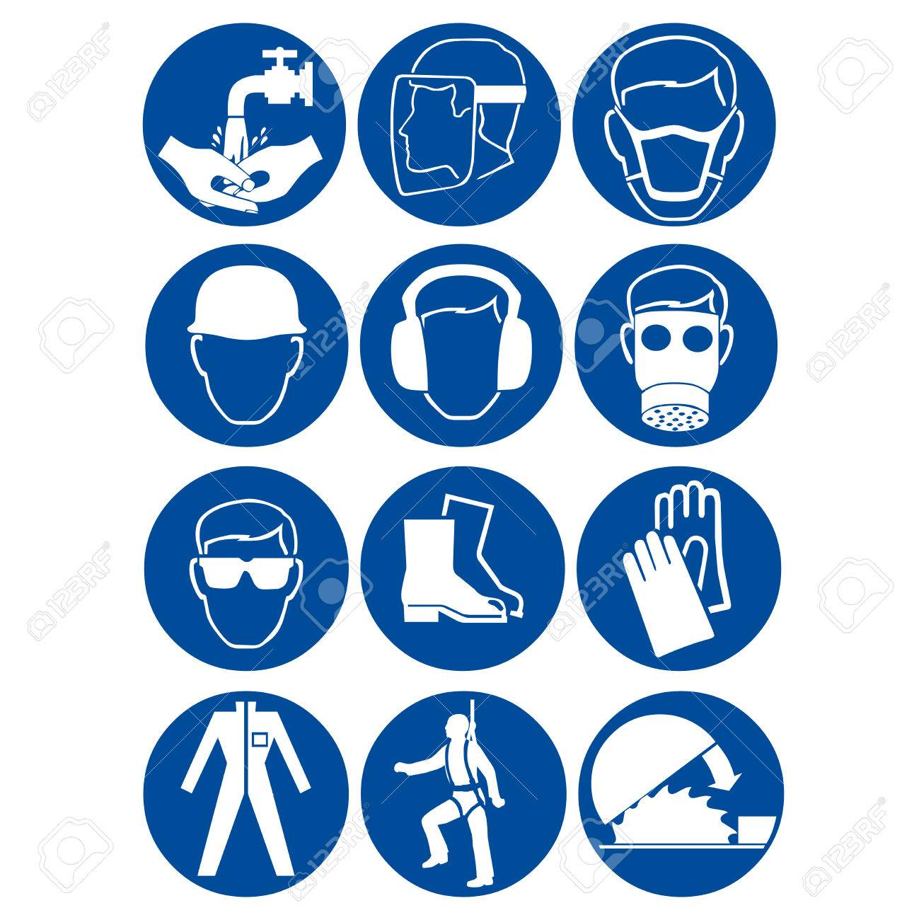 Safety signs at work - 68742471