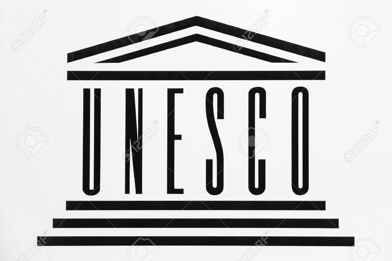 Geneva switzerland october 1 2017 unesco logo on a wall specialized agency of the united nations based in paris geneva switzerland october 1 2017 unesco logo on a wall unesco biocorpaavc