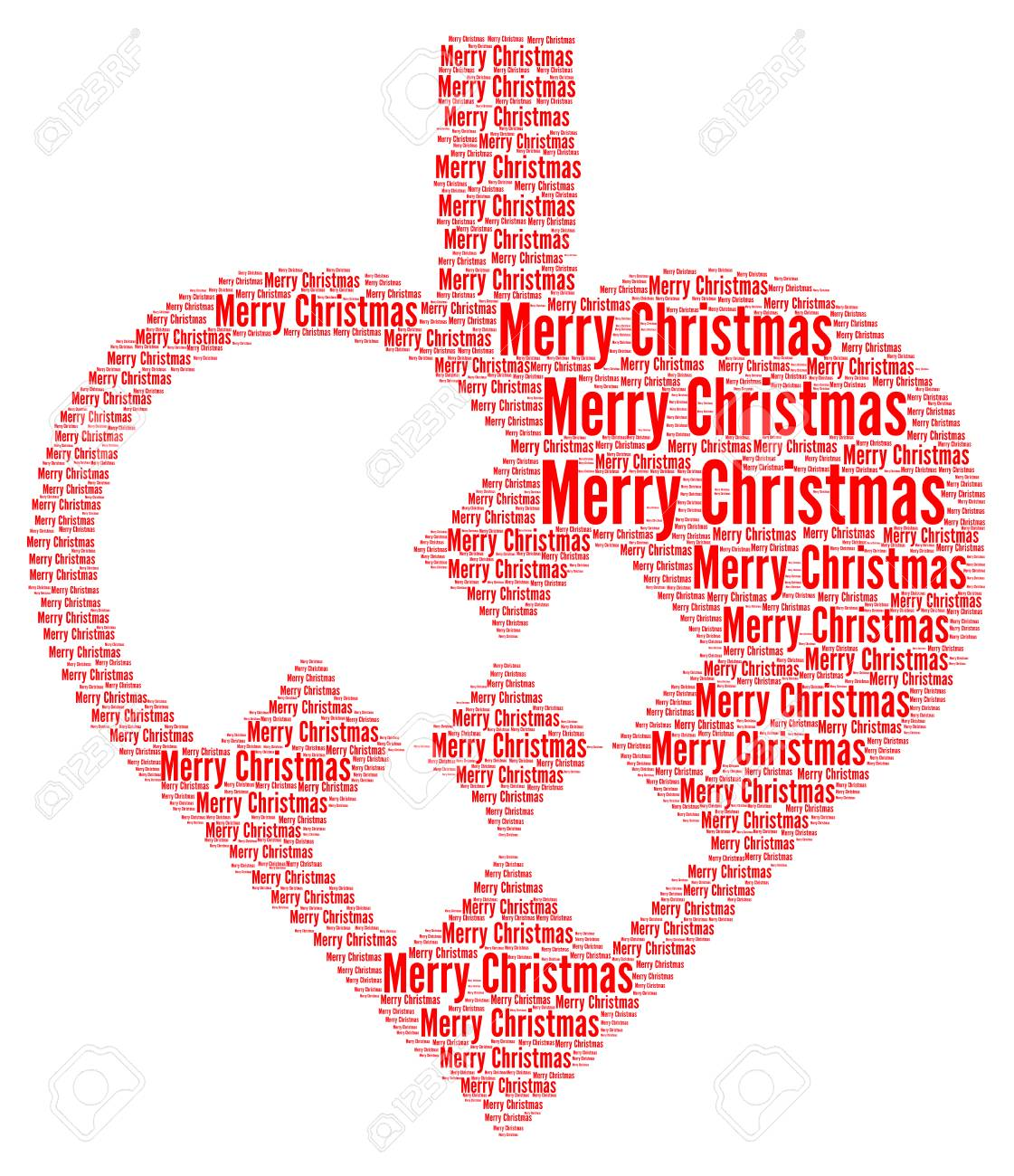 Merry Christmas With A Typical Danish Christmas Heart Stock Photo ...