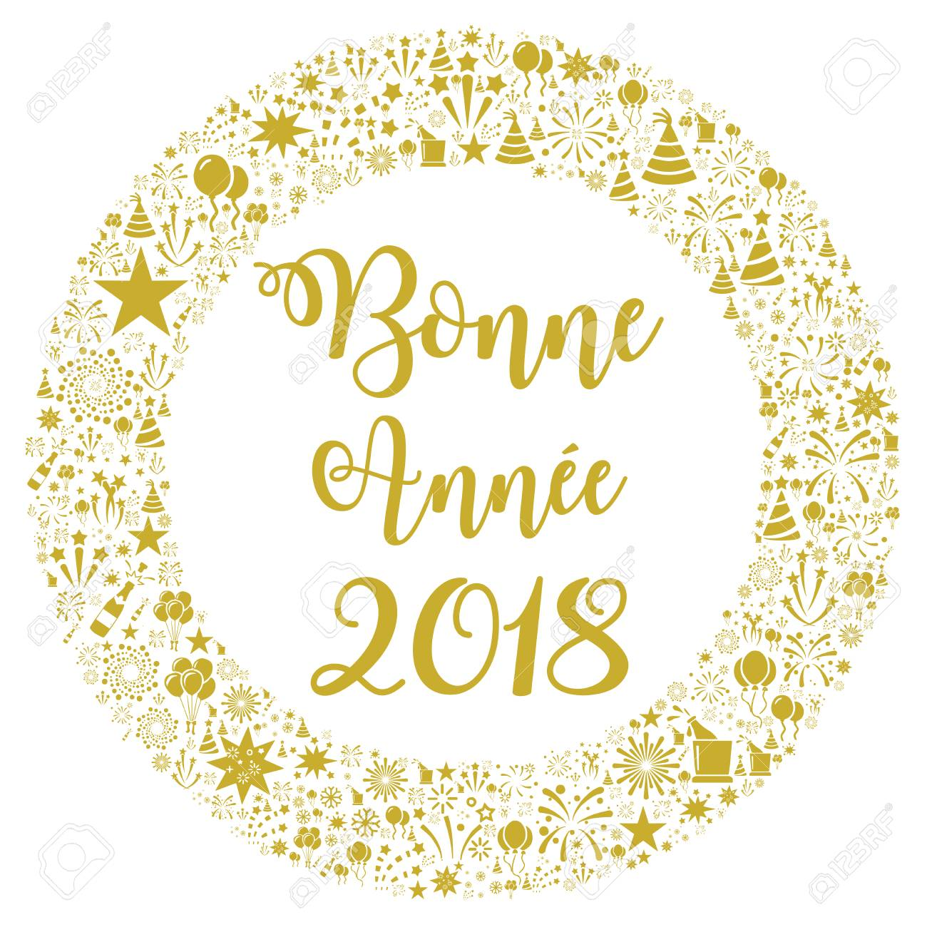 happy new year 2018 in french stock photo 92742556